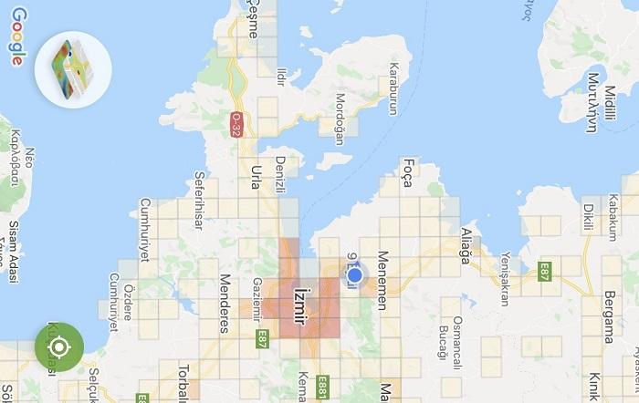 İzmir Koronavirüs Haritası